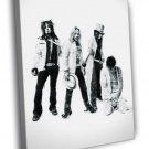 Motley Crue BW Nikki Sixx Tommy Lee Rock Band 40x30 Framed Canvas Print
