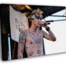 Machine Gun Kelly MGK Live Concert Hip Hop Rap 40x30 Framed Canvas Print