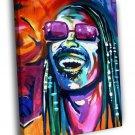 Stevie Wonder Music Portrait Amazing Painting 40x30 Framed Canvas Print