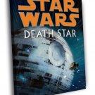 Death Star Amazing Art Star Wars Movie 40x30 Framed Canvas Print