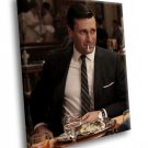 Jon Hamm Mad Men TV Series Don Draper 40x30 Framed Canvas Art Print