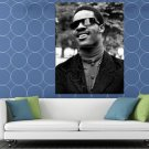 Stevie Wonder Rare BW Portrait Young Retro Music Singer HUGE 48x36 Print POSTER