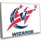 Washington Wizards Logo Basketball Sport Art 30x20 Framed Canvas Print