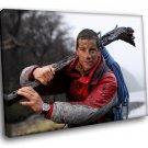 Bear Grylls Edward Michael Adventurer Man Vs Wild 30x20 Framed Canvas Art Print