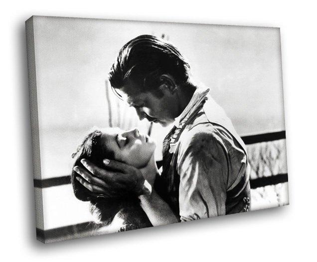 Gone With The Wind Scarlett O Hara Rhett Butler 30x20 Framed Canvas Art Print