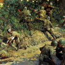 World War II D Day Normandy WW2 Painting Art Soldiers 32x24 Wall Print POSTER