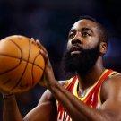 James Harden Beard Houston Rockets Free Throw 32x24 Print Poster
