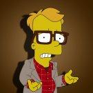 Bart Simpson Nerd Glasses Cool Funny Movie Art 32x24 Print Poster