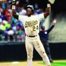 Rickey Henderson Oakland Athletics Baseball Sport 16x12 Print Poster
