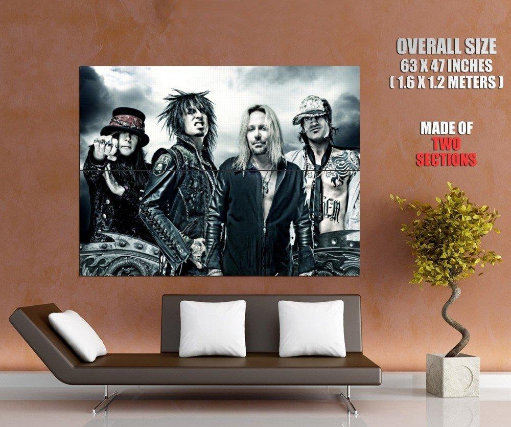 Motley Crue Mick Mars Nikki Sixx Vince Neil Tommy Lee GIANT Huge Print Poster
