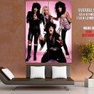 Motley Crue Retro Mick Mars Vince Neil Tommy Nikki Band GIANT Huge Print Poster