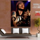 Guns N Roses Retro Axl Rose Stage Tattoos Rock Band GIANT Huge Print Poster