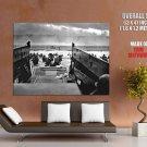 D Day Omaha Beach Normandy Landings Invasion War Retro GIANT Huge Print Poster