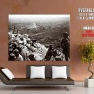 French Soldiers Slope Trench Rare WWI WW1 Old Retro BW GIANT Huge Print Poster