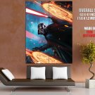 Darth Vader Lightsaber Sith Lord Star Wars Movie Art GIANT Huge Print Poster