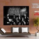 Alive And Swingin Garvey Naidoo Rat Pack Retro BW GIANT Huge Print Poster