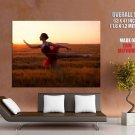 Ballet Dancer Ballerina Beautiful Girl Sunset GIANT Huge Print Poster