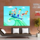 Phineas And Ferb Amazing Cool Cartoon Art GIANT Huge Print Poster
