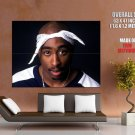 2Pac Portrait Face Tupac Amaru Shakur Tattoos Rapper GIANT Huge Print Poster