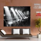 NYC Grand Central Station 1929 Retro Photo BW New York GIANT Huge Print Poster