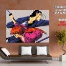 Samurai X Rurouni Kenshin Himura Saito Hajim Anime GIANT Huge Print Poster