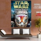 Star Wars Order 66 Clone Trooper Helmet Art GIANT Huge Print Poster