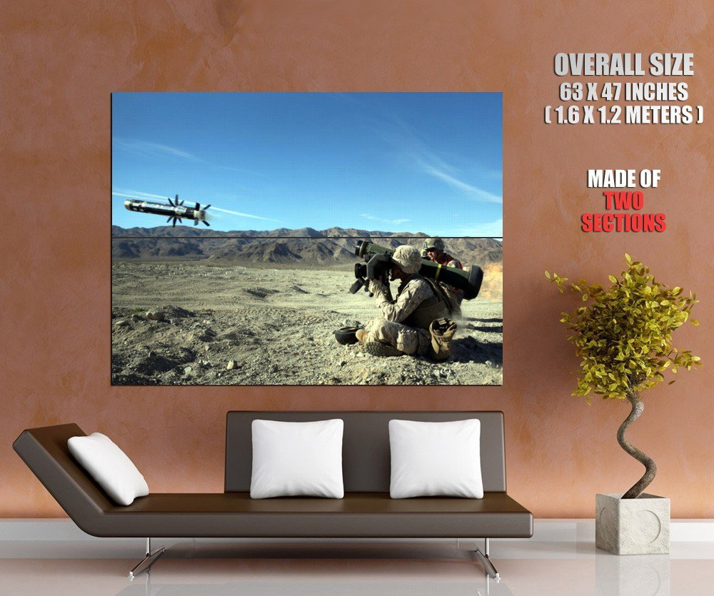 FGM 148 Javelin US Army Soldier War Military GIANT Huge Print Poster