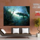 Crocodile Painting Art Underwater Landscape Animal GIANT Huge Print Poster