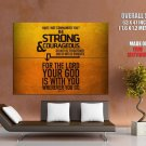Bible Verses Joshua 1 9 Quote Giant Huge Wall Print Poster