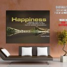 Happiness Quote Motivational Giant Huge Wall Print Poster