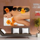 Hot Stone Massage SPA Relax Giant Huge Wall Print Poster