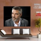 George Clooney Actoe Sexiest Man Giant Huge Wall Print Poster