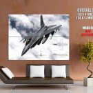 F 16 Fighting Falcon Fighting Aircraft US Air Force Giant Huge Wall Print Poster