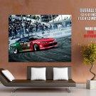 Drift Car Racing Stadium Giant Huge Wall Print Poster