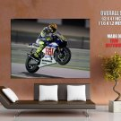 Valentino Rossi Motorcycle Racer Champion Giant Huge Wall Print Poster