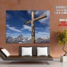 Alps Klein Matterhorn Peak Christian Cross Giant Huge Wall Print Poster