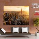 New York Cityskape Modern Skyscrapers Sunrise Giant Huge Wall Print Poster