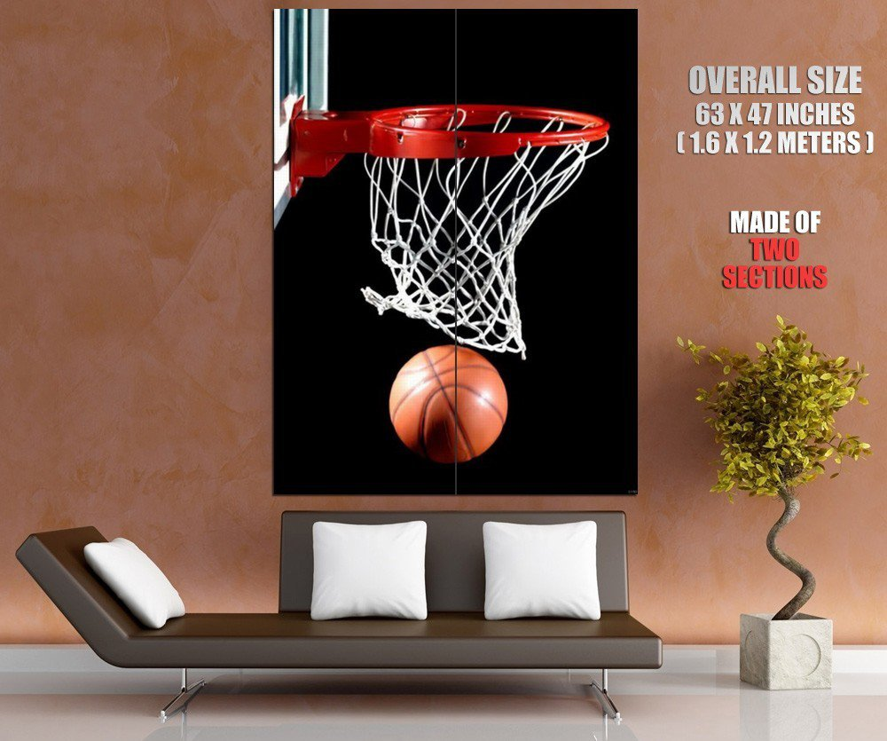 Basketball Court Hoop Board Sport Giant Huge Print Poster