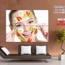 Fruits Face Mask Beauty Salon Health Giant Huge Print Poster