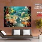 Deep Sea Corals Tropic Fish Marine Giant Huge Print Poster