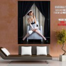 Sultry Maid Sexy Girl Fishnets Giant Huge Print Poster