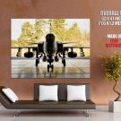 Fighter Aircraft Plane Shed Hangar Forest Giant Huge Print Poster