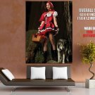 Red Riding Hood Sexy Girl Role Games Wolf Fishnets Giant Huge Print Poster