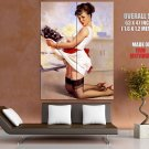 Pin Up Hot Girl Cute Maid Cooky Sockings Giant Huge Print Poster