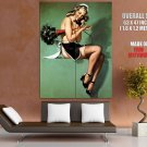 Pin Up Hot Girl Topless Maid Stockings Giant Huge Print Poster
