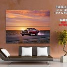 Plymouth Retro Auto Fast Sunset Road Car Giant Huge Print Poster