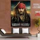 Pirates Of The Caribbean On Stranger Tides Johnny Depp Giant Huge Print Poster