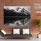 Ansel Adams McGown Peak Stanley Lake Idaho BW Giant Huge Print Poster