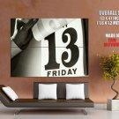 Friday The 13th Black White Calendar Giant Huge Print Poster