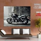 Triumph Motorbike Hot Black And White Sparkling Giant Huge Print Poster